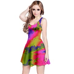 Sky pattern Reversible Sleeveless Dress