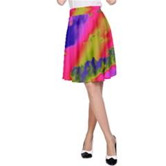 Sky pattern A-Line Skirt
