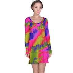 Sky pattern Long Sleeve Nightdress