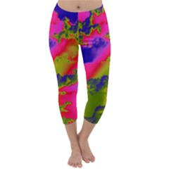 Sky pattern Capri Winter Leggings