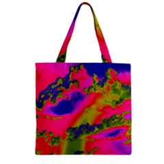 Sky pattern Zipper Grocery Tote Bag