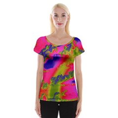 Sky pattern Women s Cap Sleeve Top