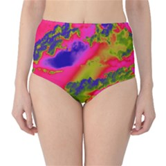 Sky pattern High-Waist Bikini Bottoms