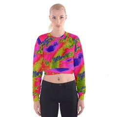 Sky pattern Cropped Sweatshirt