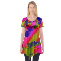 Sky pattern Short Sleeve Tunic