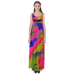 Sky pattern Empire Waist Maxi Dress