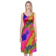 Sky pattern Midi Sleeveless Dress