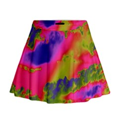 Sky pattern Mini Flare Skirt
