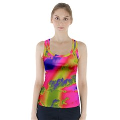 Sky pattern Racer Back Sports Top