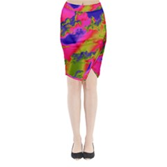 Sky pattern Midi Wrap Pencil Skirt