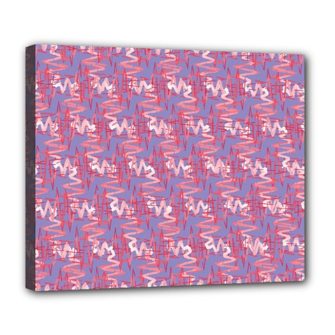 Pattern Abstract Squiggles Gliftex Deluxe Canvas 24  x 20
