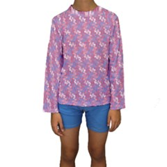 Pattern Abstract Squiggles Gliftex Kids  Long Sleeve Swimwear