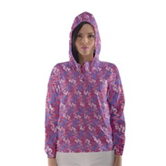 Pattern Abstract Squiggles Gliftex Hooded Wind Breaker (women)