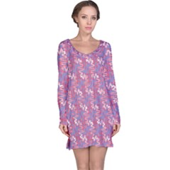 Pattern Abstract Squiggles Gliftex Long Sleeve Nightdress