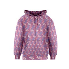 Pattern Abstract Squiggles Gliftex Kids  Zipper Hoodie