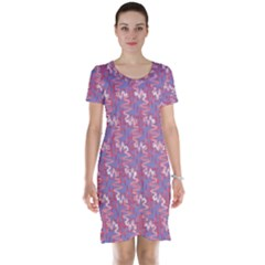 Pattern Abstract Squiggles Gliftex Short Sleeve Nightdress
