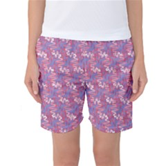 Pattern Abstract Squiggles Gliftex Women s Basketball Shorts