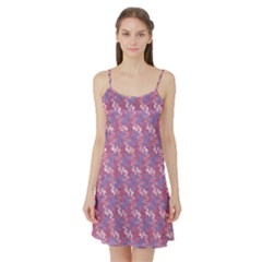 Pattern Abstract Squiggles Gliftex Satin Night Slip