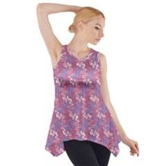 Pattern Abstract Squiggles Gliftex Side Drop Tank Tunic