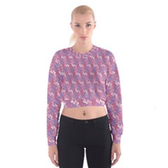 Pattern Abstract Squiggles Gliftex Cropped Sweatshirt