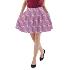 Pattern Abstract Squiggles Gliftex A-Line Pocket Skirt