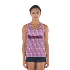 Pattern Abstract Squiggles Gliftex Women s Sport Tank Top