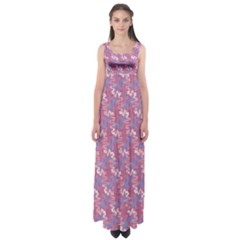 Pattern Abstract Squiggles Gliftex Empire Waist Maxi Dress