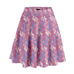 Pattern Abstract Squiggles Gliftex High Waist Skirt