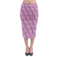 Pattern Abstract Squiggles Gliftex Midi Pencil Skirt