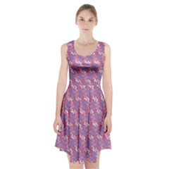 Pattern Abstract Squiggles Gliftex Racerback Midi Dress