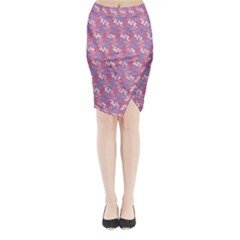 Pattern Abstract Squiggles Gliftex Midi Wrap Pencil Skirt
