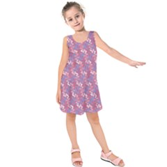 Pattern Abstract Squiggles Gliftex Kids  Sleeveless Dress
