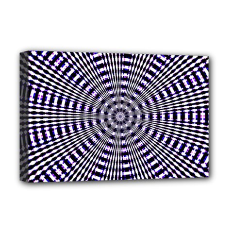 Pattern Stripes Background Deluxe Canvas 18  x 12