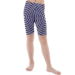 Pattern Stripes Background Kids  Mid Length Swim Shorts