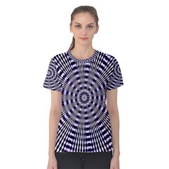 Pattern Stripes Background Women s Cotton Tee