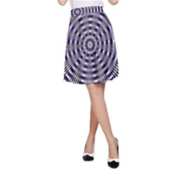 Pattern Stripes Background A Line Skirt