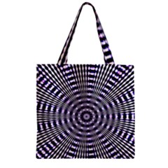 Pattern Stripes Background Zipper Grocery Tote Bag