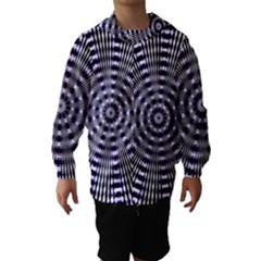 Pattern Stripes Background Hooded Wind Breaker (kids)