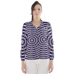 Pattern Stripes Background Wind Breaker (Women)