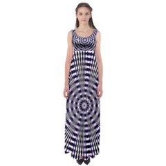 Pattern Stripes Background Empire Waist Maxi Dress