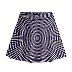 Pattern Stripes Background Mini Flare Skirt