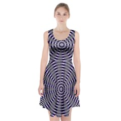 Pattern Stripes Background Racerback Midi Dress