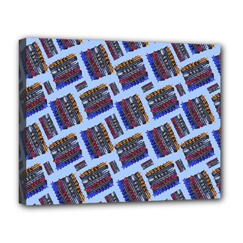Abstract Pattern Seamless Artwork Canvas 14  x 11