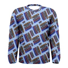 Abstract Pattern Seamless Artwork Men s Long Sleeve Tee
