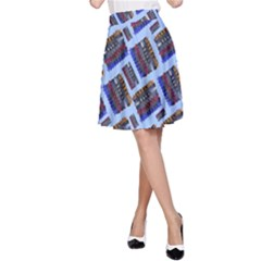 Abstract Pattern Seamless Artwork A Line Skirt