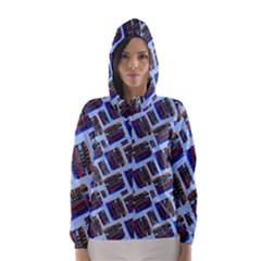 Abstract Pattern Seamless Artwork Hooded Wind Breaker (Women)