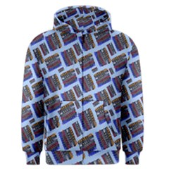 Abstract Pattern Seamless Artwork Men s Zipper Hoodie