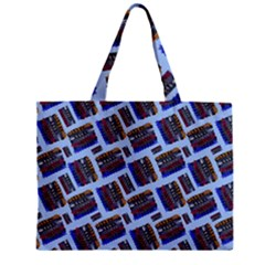 Abstract Pattern Seamless Artwork Zipper Mini Tote Bag