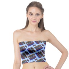 Abstract Pattern Seamless Artwork Tube Top