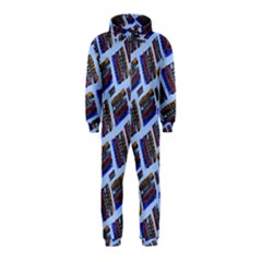 Abstract Pattern Seamless Artwork Hooded Jumpsuit (Kids)